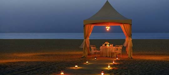 5 Star Hotels in Goa,  Candle Light Dinner in Goaa