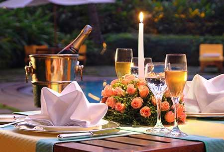 romantic candle light dinner goa